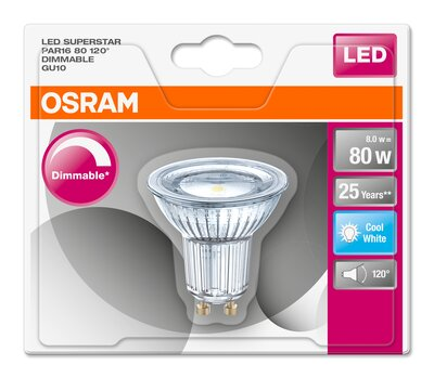 Dimmable LED reflector lamps PAR16 with retrofit pin base   LEDVANCE
